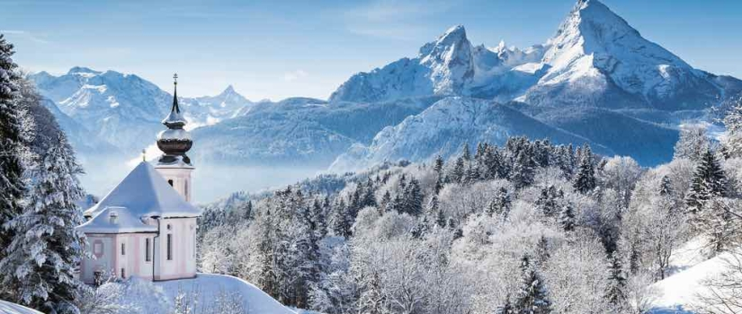 Sneeuwlandschap in Oostenrijk