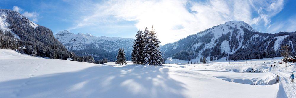 uitzicht van sneeuw